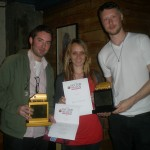 Alexei, Jessica & Calum collect Best Drama & Best Film, Van d`Or Awards 2012